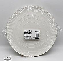 BAMI 50 Stück Pappteller Einwegteller runde