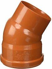 Bampi pv111030Verbindungsstück Kurve reduziert PVC 110/100, 30Grad, Orange Farbe