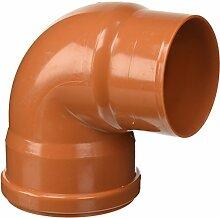 Bampi pv111087Verbindungsstück Kurve reduziert PVC 110/100, 87Grad, Orange