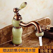 Banalili Continental Retro Gold Cu Alle Waschbecken Wasserhahn Sitzbank Becken Sitzen Auf Kalten Wasser Der Antike Beschläge Zu Erhöhen