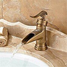 Banalili Cu Alle Waschbecken Wasserhahn Einfache Manuelle Gebürstet Antik Wasserhahn Warmes Und Kaltes Sitzbank Waschtischmischer