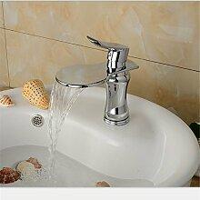Banalili Verchromt Kupfer Material Fällt Aus Wassergekühlten Wasser Waschtischmischer Waschtischmischer Niedrig, Sitzbank