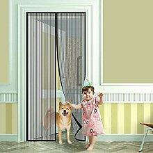 Banana Heaven Fliegengitter Vorhang Balkont Fliegen Vorhang magnetische fliegen insekten Tür 100*190CM 100*210CM (Schwarz, 100 x 190 cm)