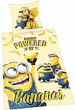 Bananas Bettwäsche glatt Minions Powered by 135 x
