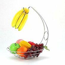 Bananenhaken Baum Kleiderbügel mit Obstschale