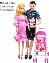 Banbie8409 Dollbaby Kutsche, 5 Personen Puppen