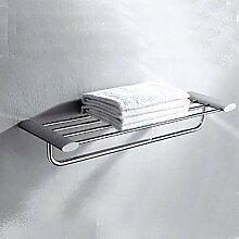 Bang Chrom poliert massivem Messing Badezimmer-Regal mit Handtuchhalter