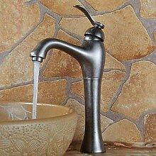 Bang Weinlese-Silber-Finish Messing Centerset Einhand Ein Loch Waschbecken Wasserhahn