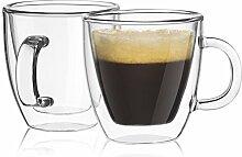 Bangbang Doppelisolierung Glas Espressotasse, 350ML