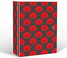 banjado - abschliessbarer Medikamentenschrank 35x46x15cm mit Motiv Hibiskus Muster