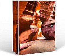 banjado - abschliessbarer Medikamentenschrank 35x46x15cm mit Motiv Antelope Canyon