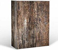 banjado - abschliessbarer Medikamentenschrank 35x46x15cm mit Motiv Altes Holz