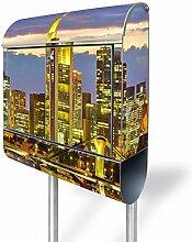 banjado - Briefkasten Stahl 38,5x158,5x12cm