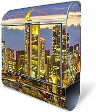 Banjado Design Briefkasten mit Motiv Frankfurt