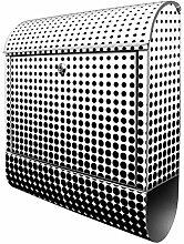 Banjado Design Briefkasten mit Motiv Schwarz Weiß
