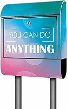 Banjado Design Briefkasten mit Motiv You Can Do