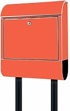 Banjado Design Briefkasten Orange/Stahl