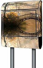 BANJADO Design Briefkasten schwarz | 38x47x13cm