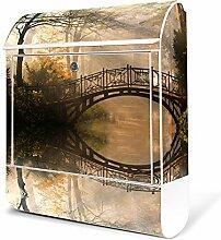 BANJADO Design Briefkasten weiß | 38x47x13cm