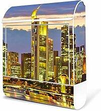 BANJADO Design Briefkasten weiß / 38x47x13cm