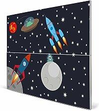 banjado - Design Magnetwand Memoboard 75cm x 59cm