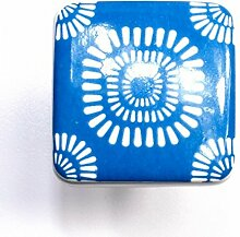 banjado - Design Schrankknauf Retro Blau