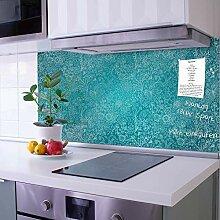 banjado Glas Nischenrückwand für Küche 110cm x