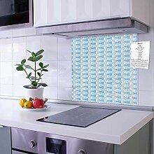 banjado Glas Nischenrückwand für Küche 50cm x
