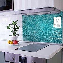banjado Glas Nischenrückwand für Küche 75cm x