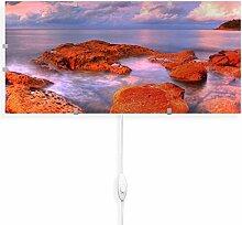 banjado Glas Wandleuchte | Wandlampe 56cm x 26cm |