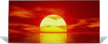 "banjado Magnettafel / Memoboard 37x78cm / Pinnwand magnetisch mit Motiv """"Sonnenuntergang"