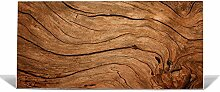 "banjado Magnettafel / Memoboard 37x78cm / Pinnwand magnetisch mit Motiv """"Trockenes Holz"