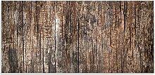 """banjado Magnettafel / Memoboard 37x78cm / Pinnwand magnetisch mit Motiv """"""""Altes Holz"""