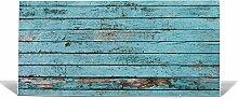 "banjado Magnettafel / Memoboard 37x78cm / Pinnwand magnetisch mit Motiv """"Blaue Holzlatten"