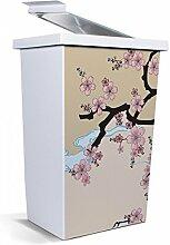 banjado - Mülleimer Design Abfalleimer 42 Liter mit Motiv Fuji