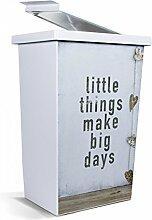 banjado - Mülleimer Design Abfalleimer 42 Liter mit Motiv Little Things