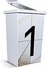 banjado - Mülleimer Design Papierkorb 42 Liter mit Motiv Countdown