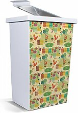 banjado - Mülleimer Design Papierkorb 42 Liter mit Motiv Gartenarbei