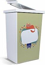 banjado - Mülleimer Design Papierkorb 42 Liter