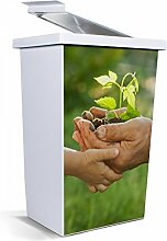 banjado - Mülleimer Design Papierkorb 42 Liter mit Motiv Leben