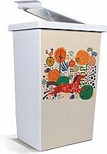 banjado - Mülleimer Design Papierkorb 42 Liter mit Motiv Rotes Pferd