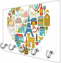 banjado Schlüsselbrett aus Glas | Schlüsselboard