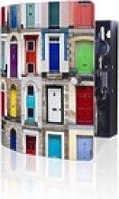 banjado Schlüsselkasten Edelstahl Türen, 24 x