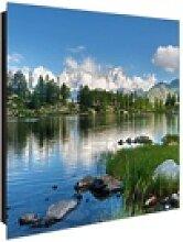 banjado Schlüsselkasten Glas Gebirgssee, 30 x 30