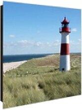 banjado Schlüsselkasten Glas Leuchtturm, 30 x 30