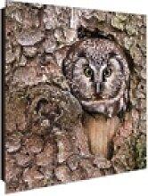 banjado Schlüsselkasten Motiv Eule, 30 cm x 30 cm