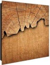 banjado Schlüsselkasten Motiv Holz, 30 cm x 30 cm