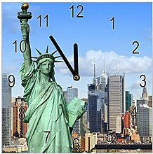 banjado Wanduhr aus Glas | geräuscharme Uhr