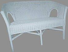 Bank (Sessel) NEU in der Farbe weiß Rattanbank