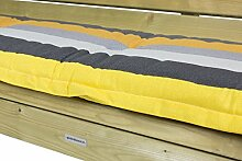 Bankauflage 150 cm, Dessin Yello, 8 cm dick, qualitäts Kissen
